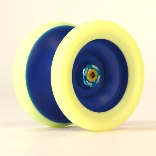 Yo-Yo Zeekio Zenith Yo-Yo - Dark Blue and Fluorescent Yellow by yoyo Zeekio