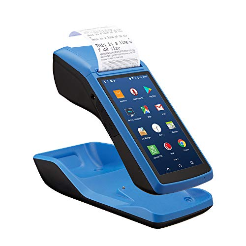 LOSRECAL Android POS Terminal Receipt Printer, Handheld PDA Receipt Printers with 5 inch Touch Screen Bluetooth WiFi 3G NFC Data Terminal Collector Barcode Portable Printers Built-in All-in-One