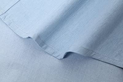 NUTEXROL Men's Cotton Short-Sleeve Denim Work Shirt