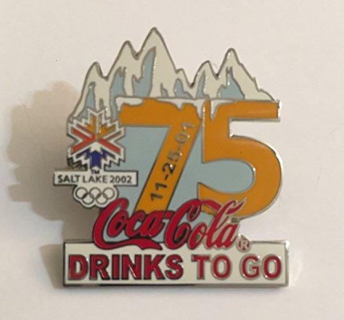 Rare Coca-Cola Drinks To Go Salt Lake City Winter Olympics Countdown Pin LE/500-75 Days Left