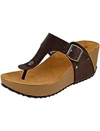 Women's Slip-On Thong Platform Wedge Slide Sandal