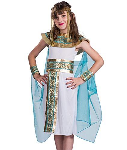 COSLAND Kids Girls' Queen of Egypt Dress Costume (Queen, Small)