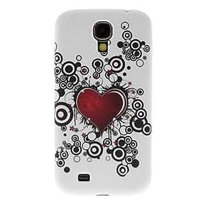 GX estuche rígido estilo patrón de corazones rojos para i9500 samsung galaxy s4