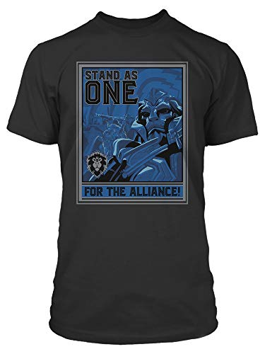 JINX World of Warcraft Alliance Warfront Men's Gamer Graphic T-Shirt
