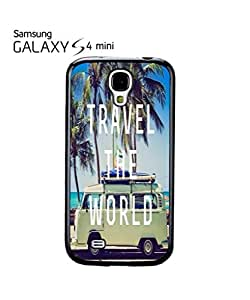 Travel the World Camper Summer Fun Mobile Cell Phone Case Samsung Galaxy S4 Mini White