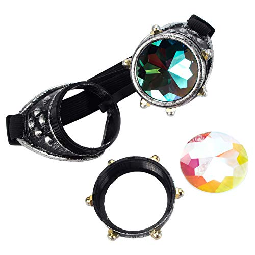 Steampunk Victorian Goggles Kaleidoscope Welding Glasses Diesel Punk Rustic Cosplay Costume Accessories Sunglasses