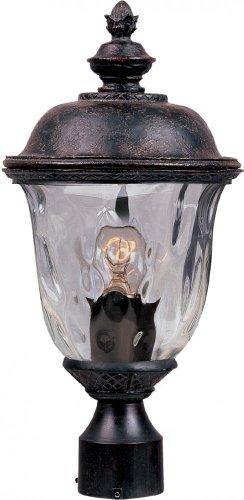 Maxim Lighting 3426WGOB Carriage House DC 1-Light Outdoor 19.5-Inch Pole/Post Lantern, Oriental Bronze Finish