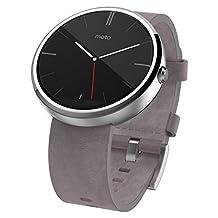 Motorola Moto 360-Stone Leather Smart Watch