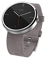 Motorola Moto 360 - Stone Grey Leather S...