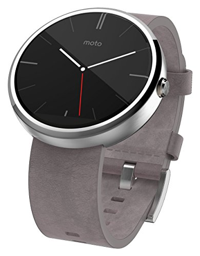 Motorola Moto 360 - Stone Grey Leather Smart Watch by Motorola