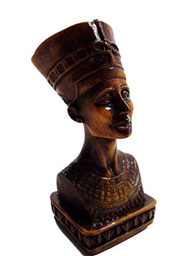 Egyptian Queen Nefertiti Pharaoh Figurine Statue Ancient Sculpture Egypt 3d