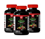 antioxidant Supplement Greens - Organic Greens Complex - Raspberry Organic Vitamins - 3 Bottles 180 Tablets