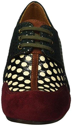 Chie Mihara Intuit, Zapatos de Cordones Derby para Mujer Multicolor - Mehrfarbig (jean GRANATE-Woven Luna D)