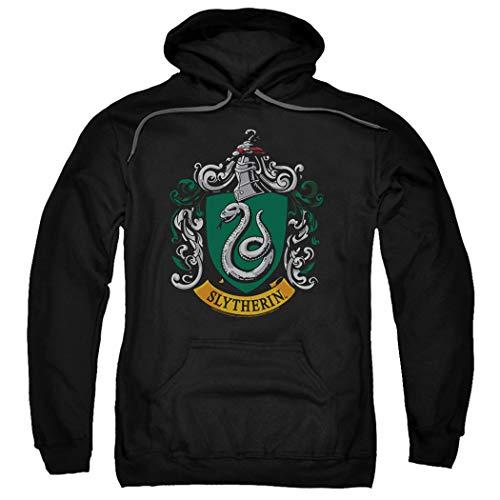 Popfunk Harry Potter Slytherin Logo Pull-Over Hoodie Sweatshirt & Stickers (X-Large)
