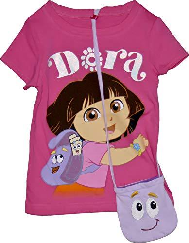 Dora the Explorer: Dora Tee with Purse - Toddler - 4T Pink