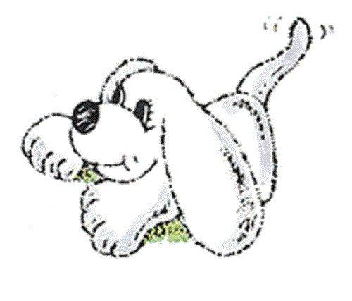 Center Enterprise D484'Puppy Crouching' Stamp