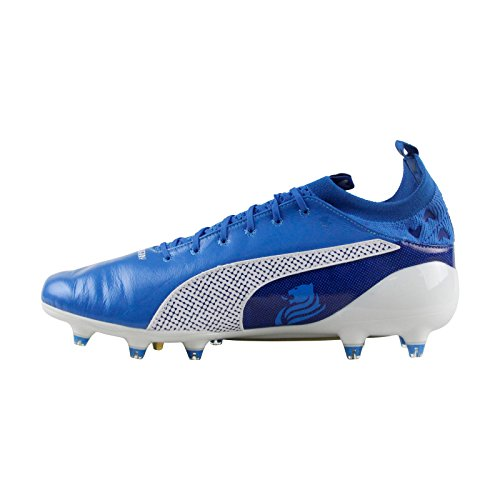 PUMA Evotouch Pro Cesc DF FG Men's Soccer Cleats French Blue Puma White RQGj4A