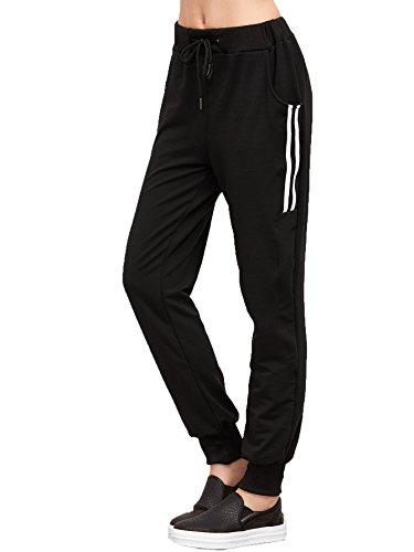 SweatyRocks Women's Drawstring Waist Striped Side Jogger Sweatpants With Pockets – DiZiSports Store