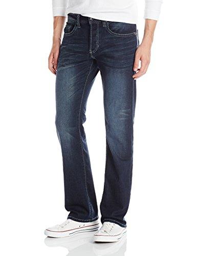 Buffalo David Bitton Men's King Slim Fit Bootcut Jean, Sanded/Rusty, 33x32