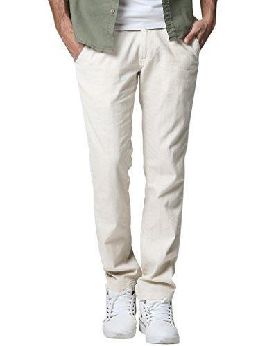 Match Men's Slim Tapered Linen Casual Trouser (36, 8059 Off White)