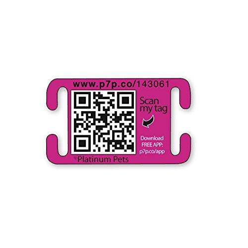Platinum Pets The Original Smartphone Collar ID Dog Tag with GPS, Medium, Pink