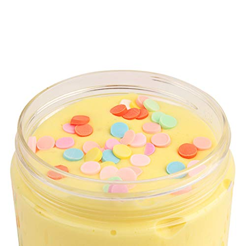 (Slime Sludge Fluff Mud Toy , Routinfly Stress Relief Toy Scented Cotton Candy Slime Not Sticky Putty Fluffy Foam Clay For Any Kids And Adults (Yellow))
