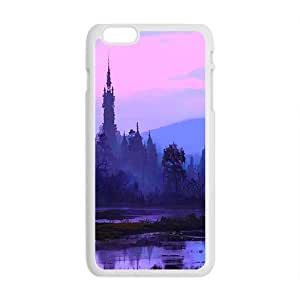 Beautifull Morning Forest White Phone Case for Iphone6 plus