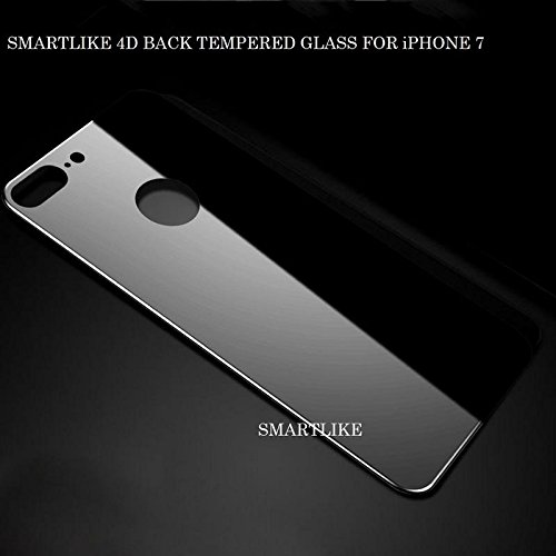 SmartLike Tempered Screen Protector Guard for iPhone 7 Black  Back Tempered