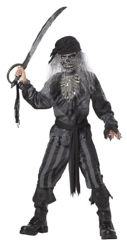 Costume Boys Ghost Pirate (Ghost Ship Pirate Boy's Costume, Medium, One)