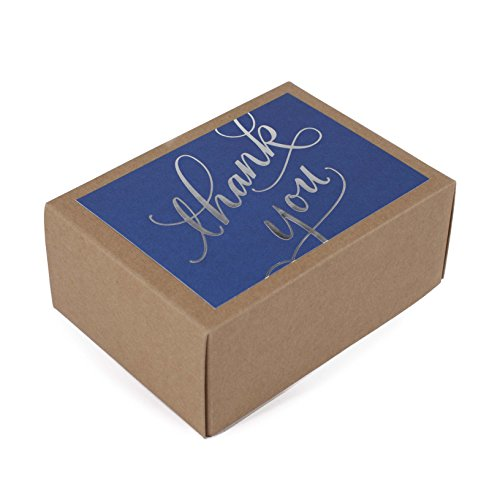 Hallmark Thank You Cards (Silver Foil Script, 40 Thank You Notes and Envelopes) (Silver Card Wedding)