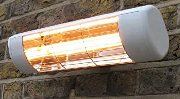 Wall Mounted Electric Infrared Halogen Patio Heater   Weatherproof IP55