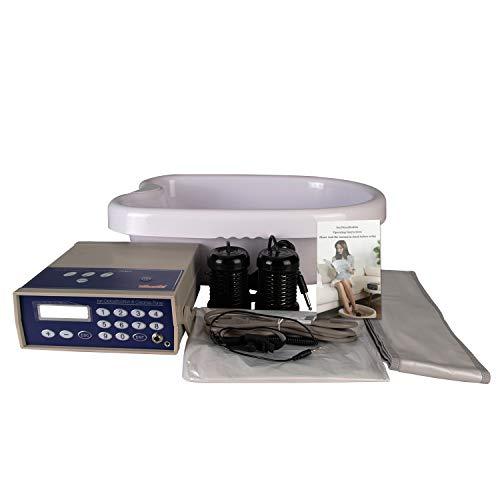 - Vitaciti Ion Ionic Detox Foot Bath Aqua Cleanse SPA Machine with Tub, 2 Arrays as Gift