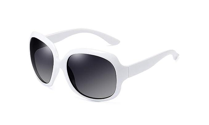 BOZEVON Oversized Gafas de sol polarizadas - UV400 Grande Clásico de época Gafas para Mujer Blanco: Amazon.es: Ropa y accesorios