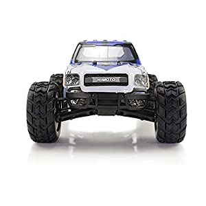 HIMOTO E12MT RC Brushed Motor Racing Monster Truck 1/12 Scale 2.4G 2WD Electric Power Off Road Buggy Car with 50 km/h+ High Speed, Blue