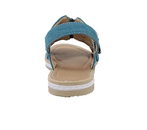Nero Medio VogueZone009 Pelle Chiusa Donna Maiale Punta Fibbia di Ballet Flats Tacco fP7Oqw