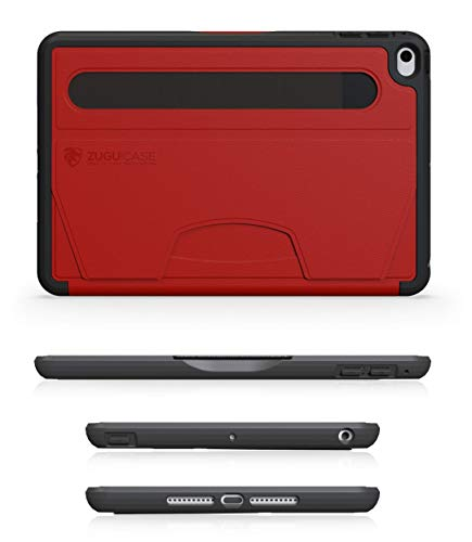 ZUGU CASE - iPad Mini 5 & 4 Muse Case - 5 Ft Drop Protection, Secure 8 Angle Magnetic Stand (Red)