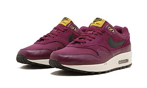 1a36157b47 Galleon - NIKE Air Max 1 Premium Mens Running-Shoes 875844 (8 D(M) US,  Bordeaux/Desert Moss/Black/Black)