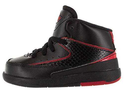 Nike Toddlers 2 Retro BT Noir / Varsity Rouge Basketball Chaussure 10 Nourrissons US
