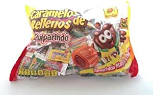 Pulparindo Carmelos Con Relleno Chamoy Mango Tamarindo Caramelos Mexicanos 100 Piezas Dulces Mexicanos: Amazon.es: Alimentación y bebidas