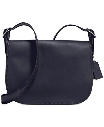 COACH Women's Gloveton Leather Saddle Bag DK/Navy Cross Body by Coach