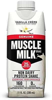 Muscle Milk Genuine Protein Shake, Vanilla Crème, 25g Protein, 11 FL OZ, 12 Count