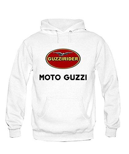 Guzzi Felpa Moto Con Racing Zetamarkt Personalizzata Cappuccio v6AIggxq