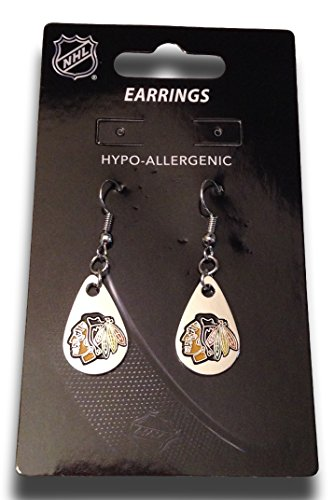 - NHL Chicago Blackhawks Tear Drop Dangler Earrings