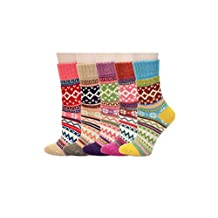 Winter Thick Vintage Style Wool Cotton Crew Socks