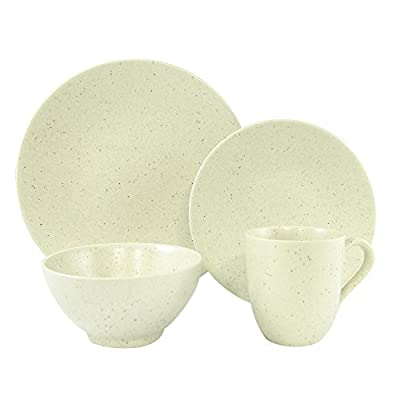 """Red Vanilla HN760-016 Oatmeal 16-Piece Dinnerware Set, White - (4) Dinner Plates 11"""", (4) Salad Plates 8.25"""", (4) Coupe Soup/Cereal/Rice Bowls 5.75"""" 22 oz., (4) Mugs 12oz Made of Stoneware Dishwasher Safe - kitchen-tabletop, kitchen-dining-room, dinnerware-sets - 41mCz59eijL. SS400  -"""