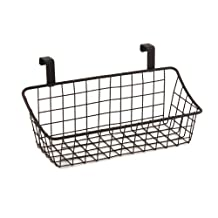 Spectrum 56124 Grid Over The Cabinet, Small Basket, Bronze
