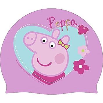 bonnet de bain piscine peppa pig