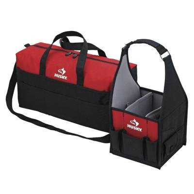 b66808abf86f Amazon.com  Husky 8 In. And 20 In. Tote Bag Combo  Home Improvement