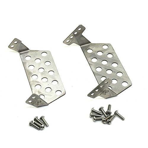 (Stainless Steel Front Rear Skid Plate Bumper Lower Protect Plate for RC 1/10 TRAXXAS TRX-4 SCX10 D90)