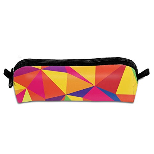 GGlooking Portable Pencil Pouch Rainbow Stereo Graphic Simple Zipper Bag,Pen Case Office School Supplies Organizer Stationery Holders